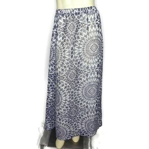 Gap Womens Maxi Skirt 1X 2X Blue Mandala Sheer Ove
